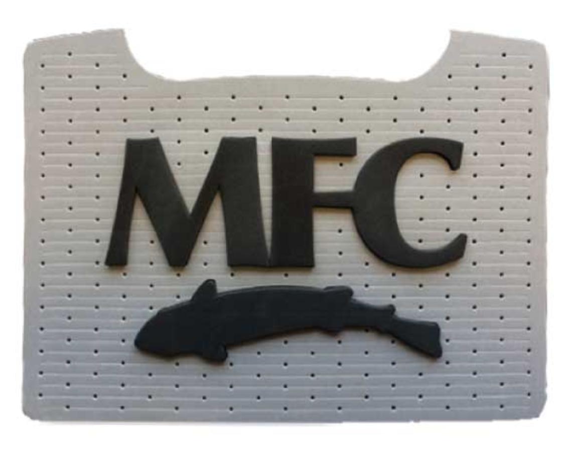 MFC Boat Box Foam Patch - Black Logo, Grey