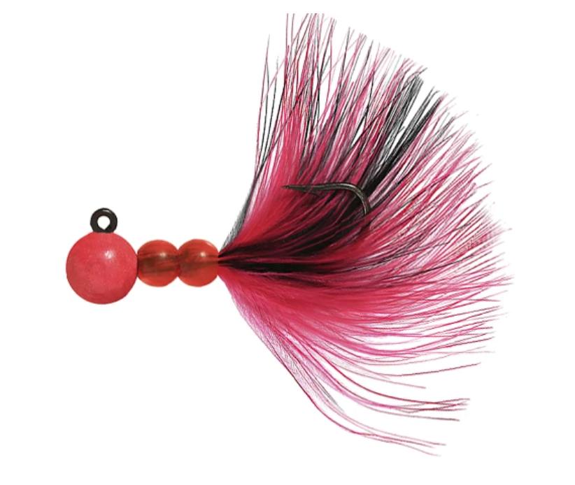 Hawken Beau Mac Marabou Steelhead Jig - 1/8oz, Pink & Black